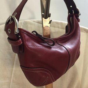 Red Smooth Leather COACH bag
